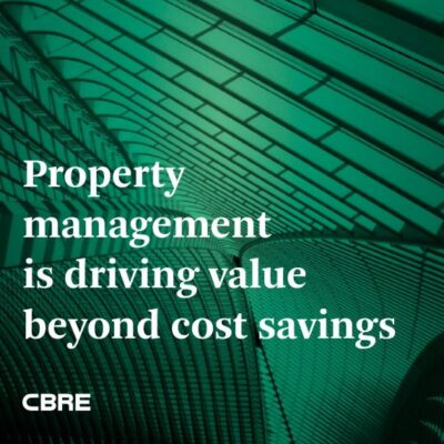 Property management is driving value beyond cost savings