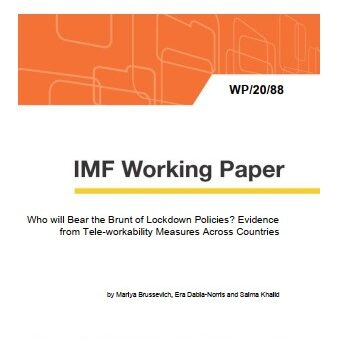 Who will Bear the Brunt of Lockdown Policies? Evidence from Tele-workability Measures Across Countries