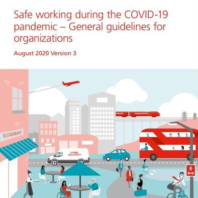 Safe Working during the COVID-19 pandemic - General guidelines for organizations