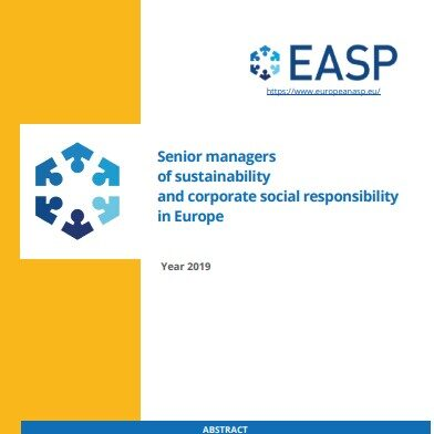 Senior managers of sustainability and corporate social responsibility in Europe